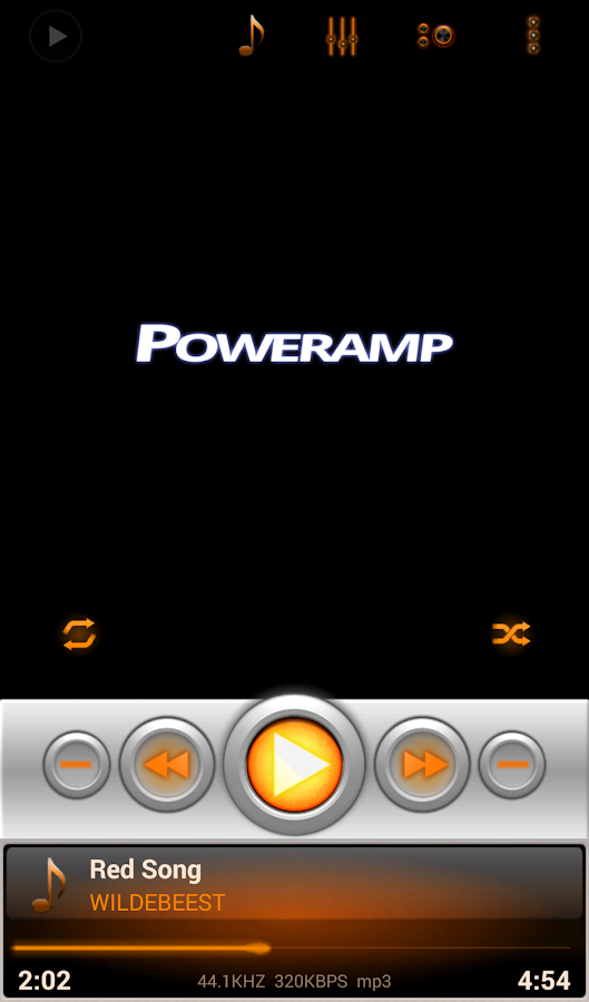 Mad Jelly Amber Poweramp Skin Screenshot 3