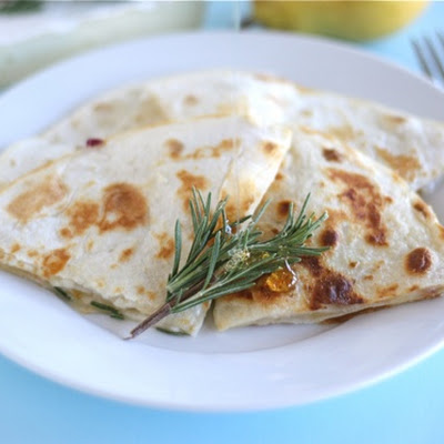 Pear, Brie, and Honey Quesadilla