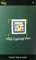 Screenshot of Microsoft Tag, QR & NFC Reader