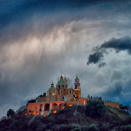 Storm over the church by Cristobal Garciaferro Rubio - Landscapes Weather