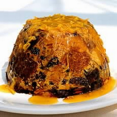 Steamed Panettone Pudding with Eliza Acton's Hot Punch Sauce