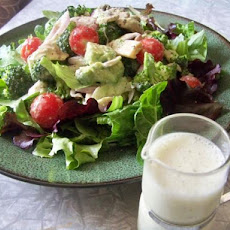 Super  Veggie Salad With Creamy Almond Dressing