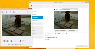 Screenshot of DroidCamX Wireless Webcam Pro