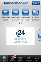 Screenshot of Handelsbanken Norge mobilbank
