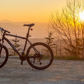 Trek in sunset by Igor Isanovic - Transportation Bicycles ( cycle, relax, sunset, sport, trek, Bicycle, Sport, Transportation, Cycle, Bike, ResourceMagazine, Outdoors, Exercise, Two Wheels )