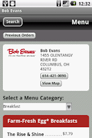 Screenshot of Bob Evans