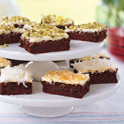 Chocolate Brownies with Orange Cream Cheese Frosting