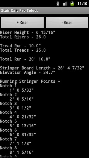 Stair Calc Pro Select - screenshot