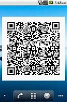 Screenshot of QR Code Widget