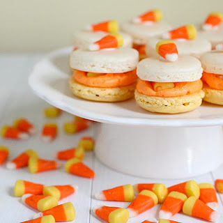 Candy Corn Macarons
