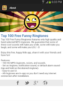 Screenshot of Top 100 Free Funny Ringtones