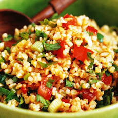 Making Bulgur and Tomato Salad