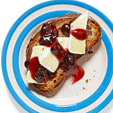Brie and Blackberry Jam on Toast