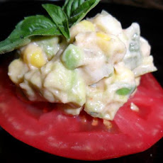 Fiesta Corn Salad over Tomato
