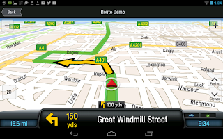Screenshot of CoPilot Premium UK+IRE Sat Nav