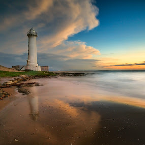 The Greatest of Lighthouse by Bertoni Siswanto - Landscapes Sunsets & Sunrises ( sunset & sunrise, reflection, lighthouse, long exposure, seascape, landscape,  )