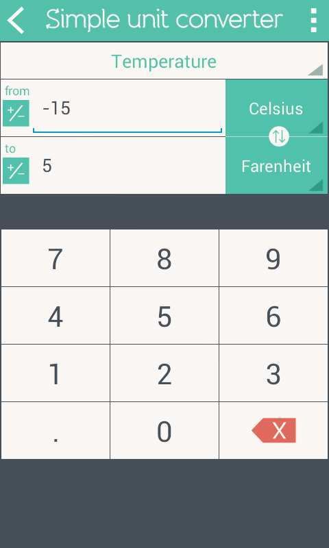 Simple Unit Converter Screenshot 2