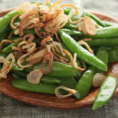 Snap Peas with Crispy Shallots Recipe