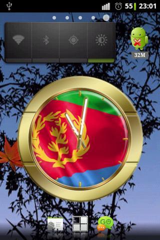 Eritrea flag clocks