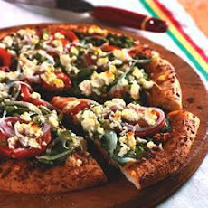 Spinach, Feta and Sun-dried Tomato Pesto Pizza
