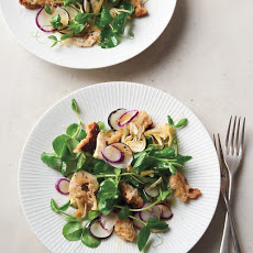 Pea-Shoot and Baby-Artichoke Salad with Parmesan Croutons