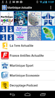 Screenshot of Martinique Actualite & Radios