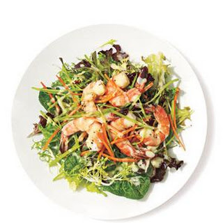 Shrimp Salad with Miso Dressing