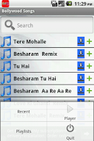 Screenshot of Bollywood Songs