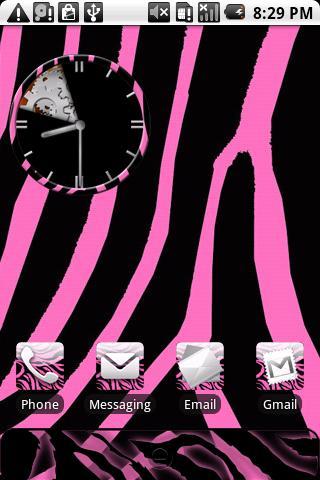 Zebra Print Pink Theme