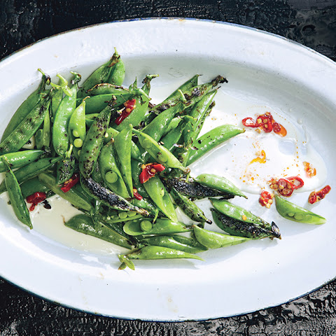 Charred Sugar Snap Peas with Buttermilk Aioli