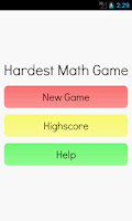 Screenshot of Hardest Math Game Ever