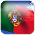3D Portugal Flag + icon