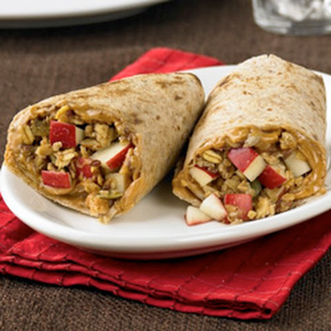 Peanut Butter Apple Wraps
