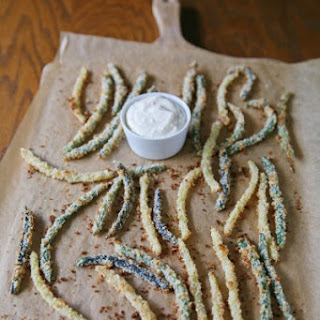 Green Bean Fries with Lemon-Garlic Aioli