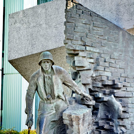 Fight until the end by Irina Brinza - Buildings & Architecture Statues & Monuments ( soldier, war )