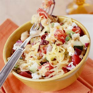 Greek-Style Salad with Spaghetti Squash