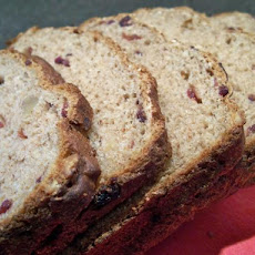 Healthy Cranberry Walnut Bread