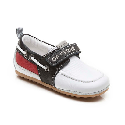GF Ferre Branded Leather Boat Shoe SHOE