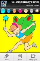 Screenshot of Coloring: Fairies