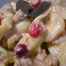 Tortellini With Turkey Sausage in Creamy Butternut  Apple Sage