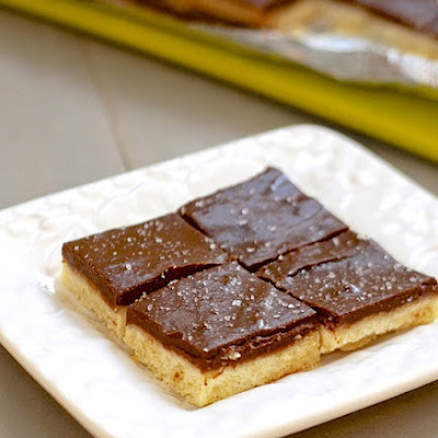 Chocolate Pudding Shortbread Bars