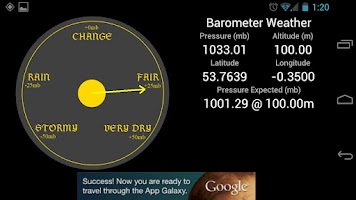 Screenshot of Weather Barometer