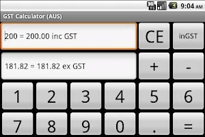 Screenshot of GST Calculator (AUS)