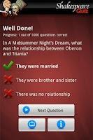 Screenshot of Ultimate Shakespeare Quiz