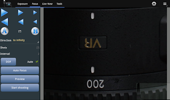Screenshot of Helicon Remote