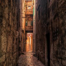 Šibenik Street by Branko Meic-Sidic - City,  Street & Park  Street Scenes ( oldtown, hdr, street, croatia, šibenik, historical, stonehouses )