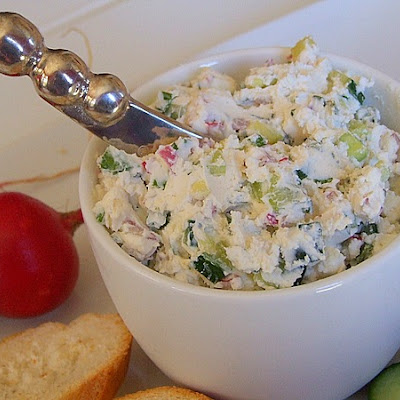 Vegetable- Goat Cheese Spread