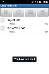 LotusAndy Mail - screenshot