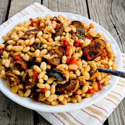 Slow Cooker Italian Sausage and White Beans with Sage