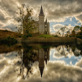 Castle by Ева Йорданова - Buildings & Architecture Public & Historical ( autumn light, reflection, lake, castle,  )